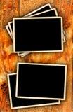 Vintage Photo Frames On Grunge Style Background. Old Vintage Photo Frames On Grunge Style Background Royalty Free Stock Photos