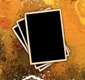 Vintage Photo Frames On Grunge Style Background royalty free illustration