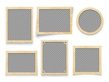 Vintage photo frames isolated. Vector antique picture borders collection. Illustration of frame photo blank for album royalty free illustration