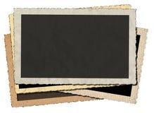 Vintage Photo Frames Isolated on White Royalty Free Stock Image