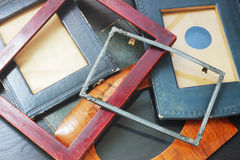 Vintage photo frames. Without photos Stock Photos