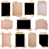 Vintage photo frames set Stock Photos