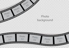 Vintage photo frames swirl film strip template. Vector illustration vector illustration