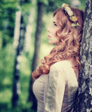 Vintage photo of gentle woman Royalty Free Stock Images