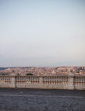 Vintage photo from Gianicolo hill in Rome Royalty Free Stock Photography