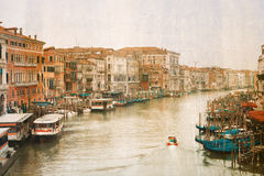 Vintage photo of Grand Canal in Venice Royalty Free Stock Images