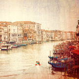 Vintage photo of Grand Canal in Venice Royalty Free Stock Image