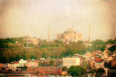 Vintage photo of Istanbul urban view Royalty Free Stock Photography