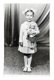 Vintage photo of little girl Stock Image