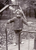 Vintage photo of little girl Stock Photos