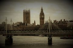 Vintage photo of London, Great Britain royalty free stock photo