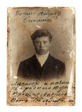 Vintage photo of man stock photos