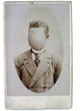 Vintage photo man royalty free stock photography
