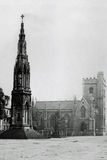 Vintage Photo 1900, Martyrs Memorial and Church, Magdalen St, Oxford Stock Photos