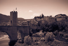 Vintage photo of medieval town Royalty Free Stock Photography