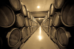 Vintage photo of old cellar Stock Photography