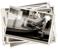 Vintage photo Old gramophone Stock Image