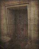 Vintage Photo of Old Weathered Door Stock Photos