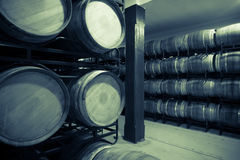 Vintage photo of old wine cellar Stock Photography