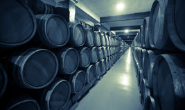 Vintage photo of old wine cellar Stock Images