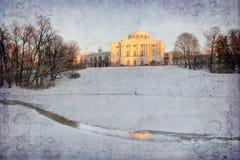 Vintage Photo of the Pavlovsk Palace, St. Petersburg, Russia Stock Photos