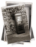 Vintage photo Phone booth Stock Images
