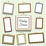 Vintage photo or picture frames Royalty Free Stock Photography