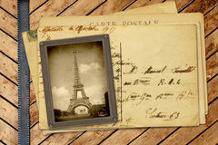 Vintage photo and post card Royalty Free Stock Image