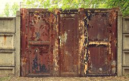 Vintage photo of a rusty gate Stock Image
