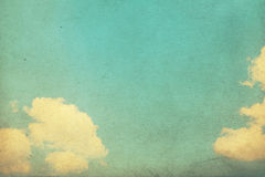 Vintage photo with sky Royalty Free Stock Photo