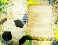 Vintage photo of soccer ball  Brazil 2014. Vintage photo of soccer ball OF Brazil 2014 Stock Photos