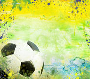 Vintage photo of soccer ball  Brazil 2014. Vintage photo of soccer ball OF Brazil 2014 Stock Photography