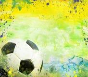 Vintage photo of soccer ball Brazil 2014. Vintage photo of soccer ball OF Brazil 2014 Vector Illustration