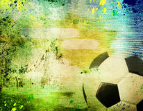 Vintage photo of soccer ball  Brazil 2014. Vintage photo of soccer ball OF Brazil 2014 Stock Photos