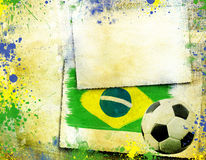 Vintage photo of soccer ball  Brazil 2014 Stock Image