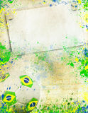 Vintage photo of soccer ball  Brazil 2014 Royalty Free Stock Photos