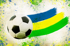 Vintage photo of soccer ball  Brazil 2014 Stock Photo