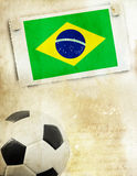 Vintage photo of soccer ball  Brazil 2014 Royalty Free Stock Photography