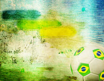 Vintage photo of soccer ball  Brazil 2014 Royalty Free Stock Images