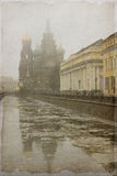 Vintage Photo of St. Petersburg, Russia Royalty Free Stock Image