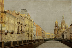 Vintage Photo of St. Petersburg, Russia Stock Photo