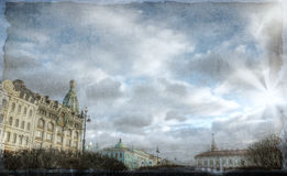 Vintage Photo of St. Petersburg, Russia Stock Images