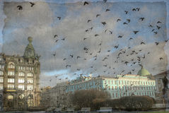 Vintage Photo of St. Petersburg, Russia Royalty Free Stock Images