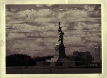 Vintage Photo Of Statue Of Liberty Stock Photography