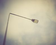Vintage photo of street lamp Royalty Free Stock Photography