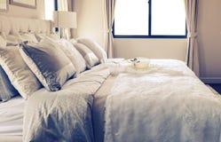 Vintage photo of stylish bedroom interior Royalty Free Stock Image