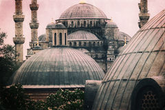 Vintage photo of Sultanahmet Blue Mosque architecture Royalty Free Stock Photos