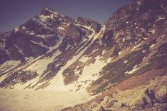 Vintage photo of Tatra mountains landscape Stock Photography