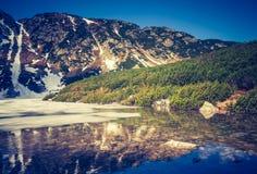 Vintage photo of Tatra mountains landscape Stock Photos