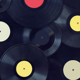 Vintage photo vinyl discs, music, sound Stock Photos